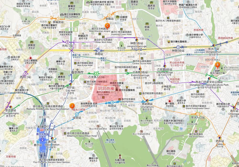 首爾江北地圖