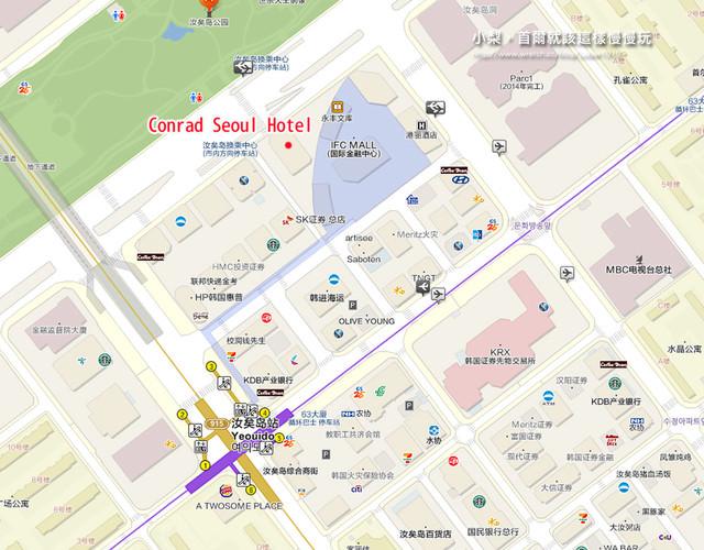 首爾住宿,汝矣島站週邊位置