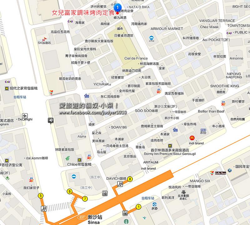 新沙站地圖