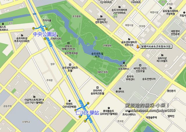 中央公園站地圖