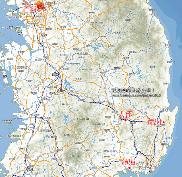 大邱慶洲鎮海地圖