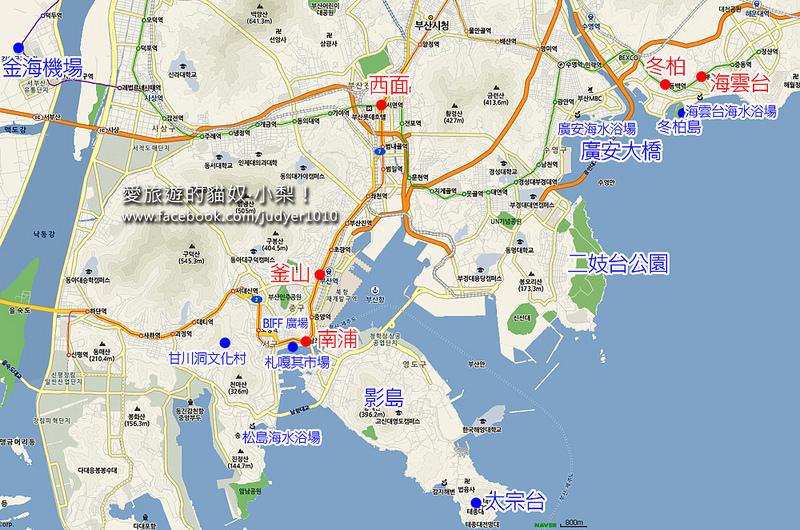釜山住宿地圖