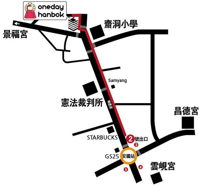 Oneday Hanbok地圖