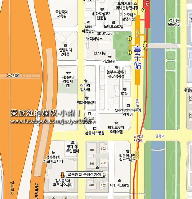 亭子站地圖