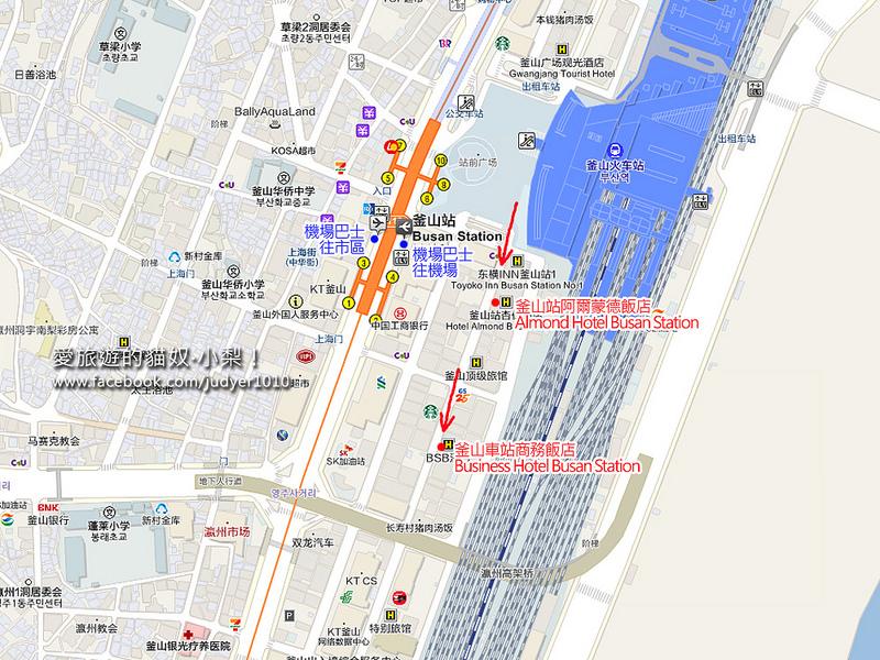 釜山站地圖