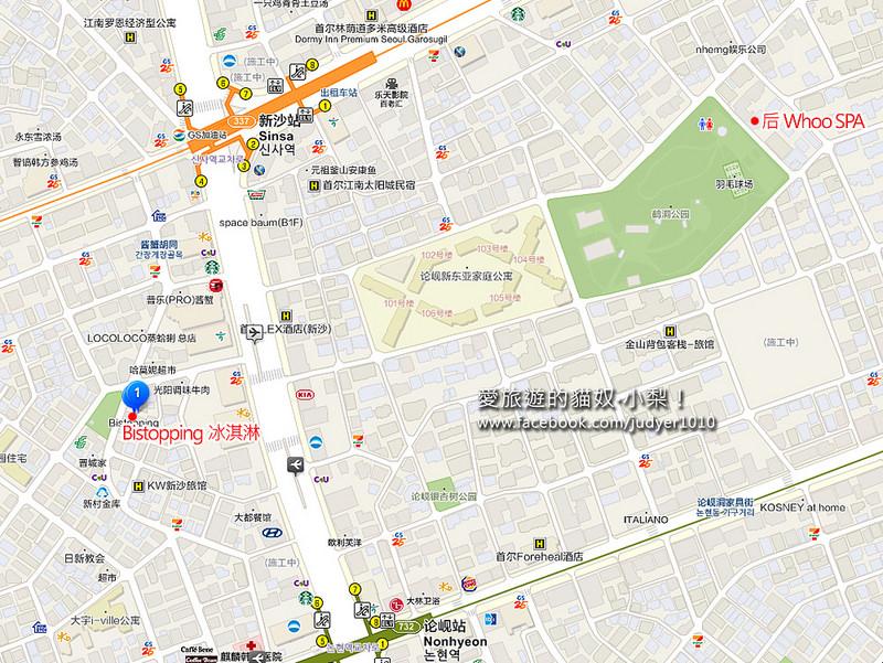 新沙站地圖1