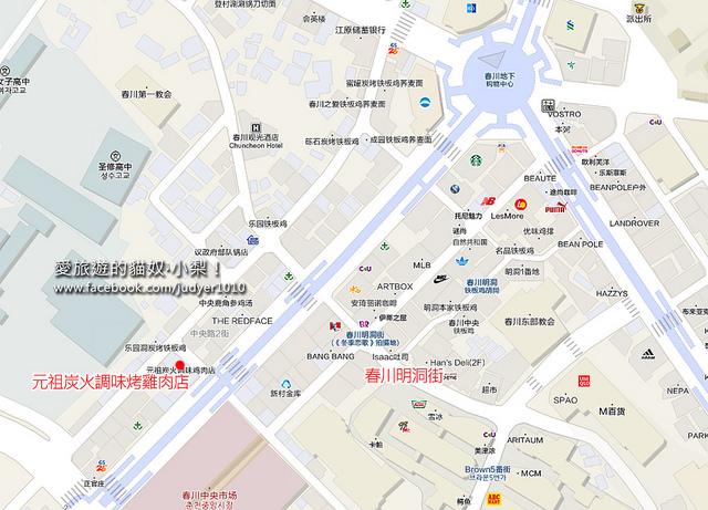 春川明洞地圖