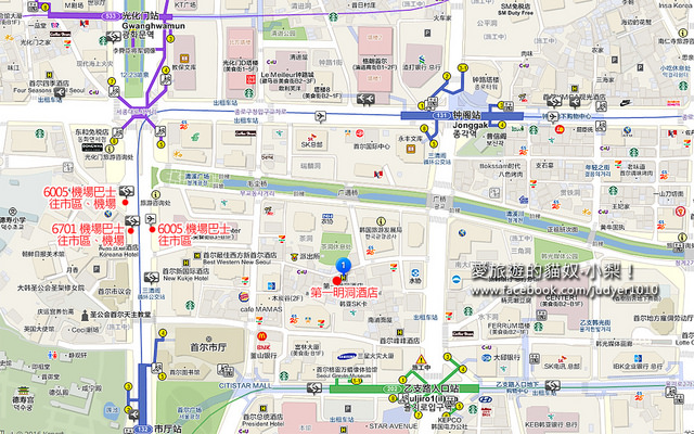 第一明洞酒店地圖