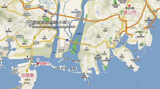 加德島壁畫村地圖