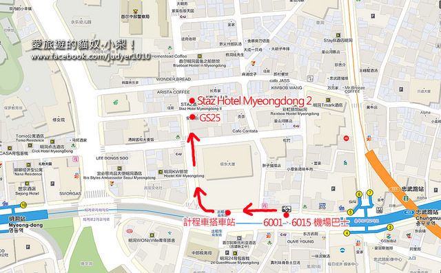 Staz Hotel Myeongdong 2地圖