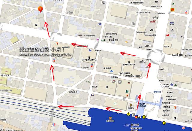 DALA 100%富川站地圖