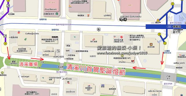清溪川地圖