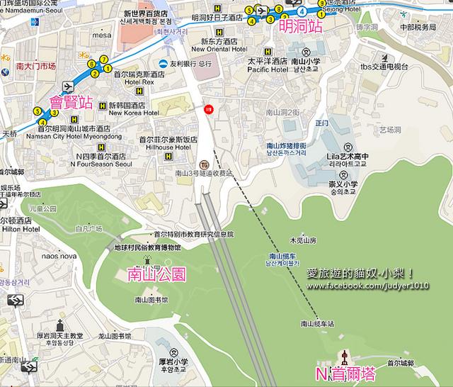 南山公園地圖