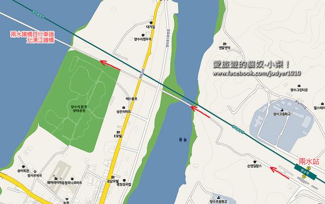 兩水鐵橋自行車道地圖