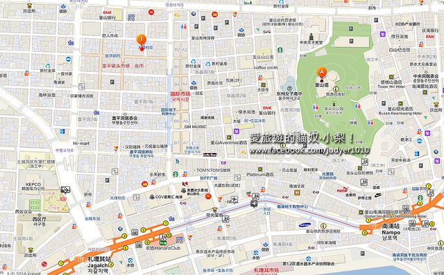 南浦洞富平市場奶奶油豆腐包地圖