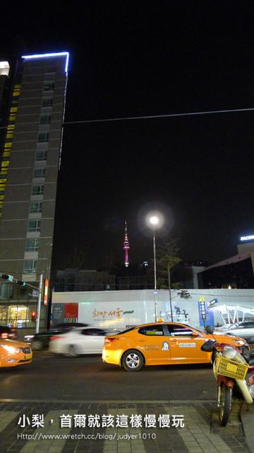明洞住宿-九樹飯店附近可以看到首爾塔哦