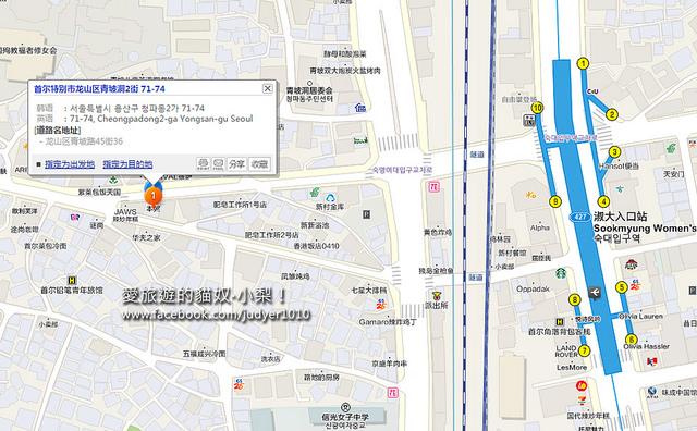 淑大入口站地圖 -1