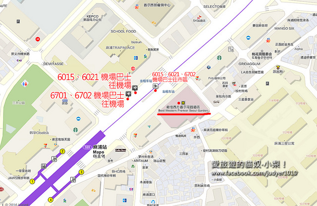 麻浦站地圖