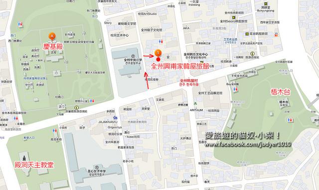 全州興甫家韓屋旅館地圖