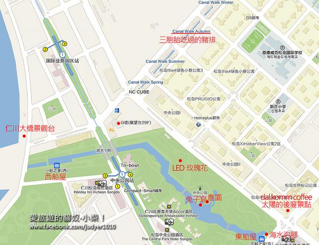 仁川松島地圖