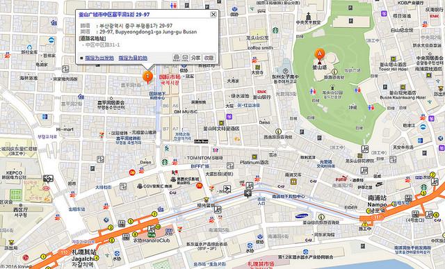 元祖麥麵南浦洞地圖